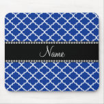 Personalized name Blue moroccan Mouse Pads