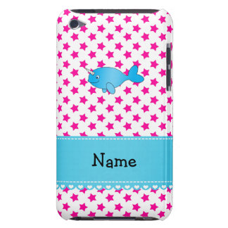 Personalized name blue narwhal pink stars iPod Case-Mate case