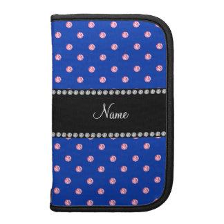 Personalized name blue pink diamonds organizer