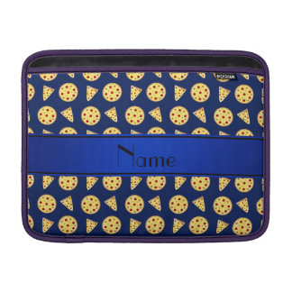 Personalized name blue pizzas MacBook sleeve