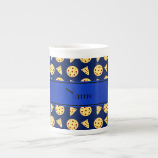 Personalized name blue pizzas porcelain mugs