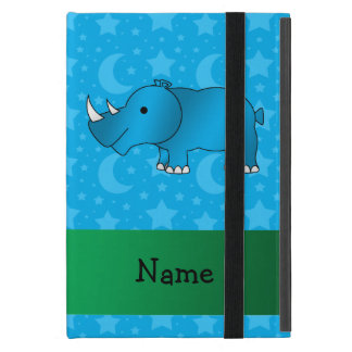 Personalized name blue rhino blue stars and moons cases for iPad mini