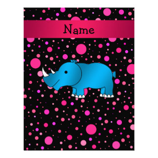 Personalized name blue rhino pink polka dots personalized letterhead