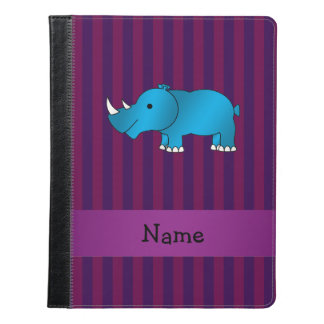 Personalized name blue rhino purple stripes