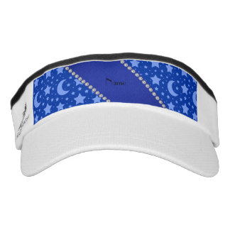 Personalized name blue stars and moons headsweats visor