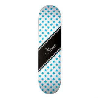 Personalized name Blue stars Skateboard