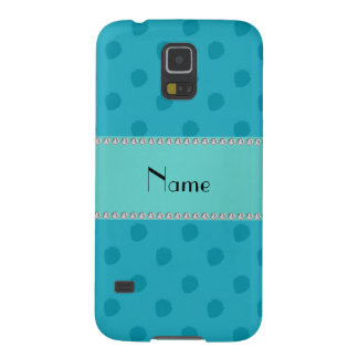 Personalized name blue strawberries pattern samsung galaxy nexus cover