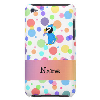 Personalized name bluejay rainbow polka dots iPod Case-Mate case