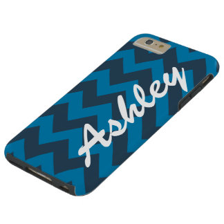 Personalized Name Blues Jam Chevron Pattern Tough iPhone 6 Plus Case