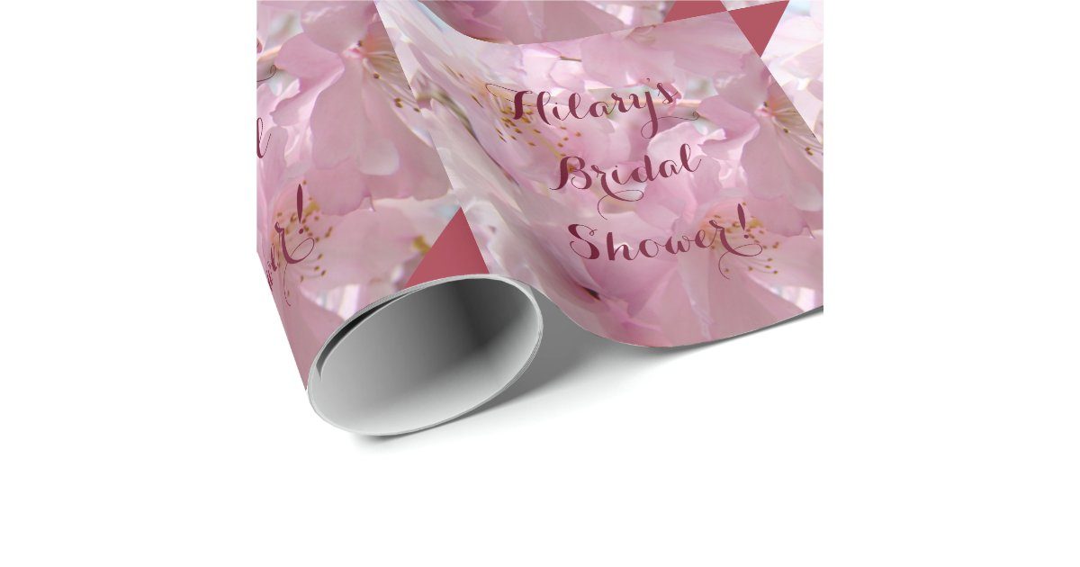 Personalized Name Bridal Shower Wrapping Paper Zazzle
