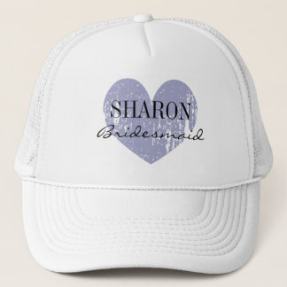 Personalized name bridesmaid hat for bride's crew