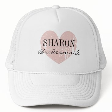 Beach Themed Personalized name bridesmaid hat for wedding party