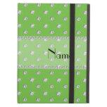 Personalized name bright green diamonds iPad folio case