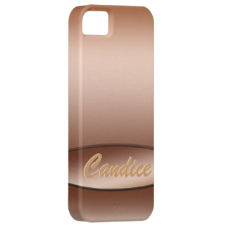 Personalized Name Bronze iPhone cover