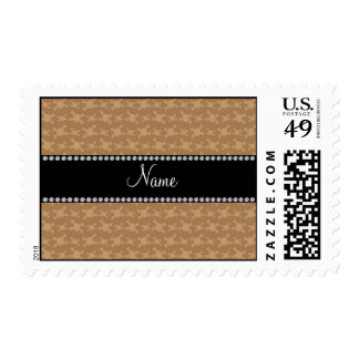 Personalized name brown skulls pattern stamps