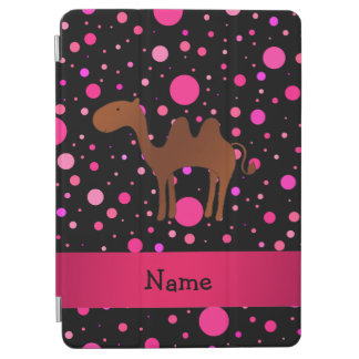 Personalized name camel black pink polka dots iPad air cover
