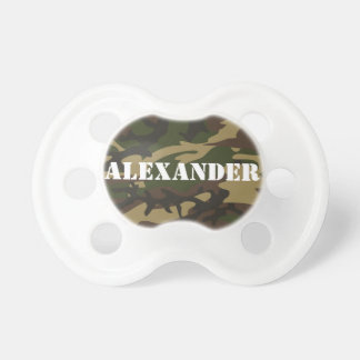 Personalized Name Camo Camouflage Pacifier