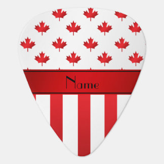 Personalized name Canadian pattern Guitar Pick