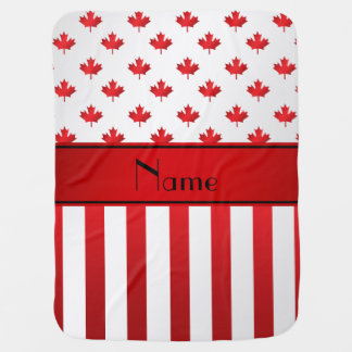 Personalized name Canadian pattern Stroller Blanket