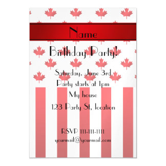 Personalized name Canadian pattern Magnetic Invitations