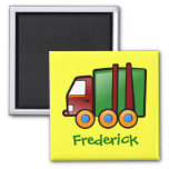 Personalized Name Cartoon Truck Refrigerator Magnets