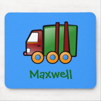 Personalized Name Cartoon Truck Mouse Pad