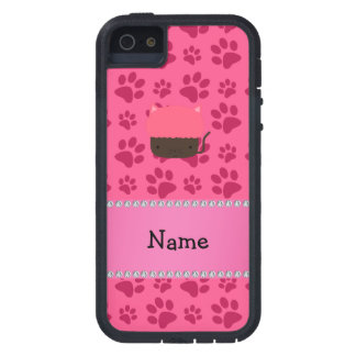 Personalized name cat cupcake pink paws iPhone 5 covers