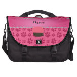 Personalized name cat cupcake pink paws bags for laptop