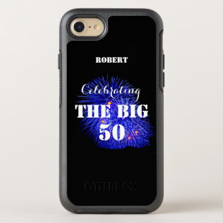 Personalized Name Celebrating THE BIG 50 - OtterBox Symmetry iPhone 8/7 Case
