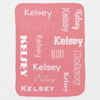 Personalized Name & Changeable Colors Baby Stroller Blanket