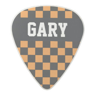 personalized Name checkered Acetal Guitar Pick