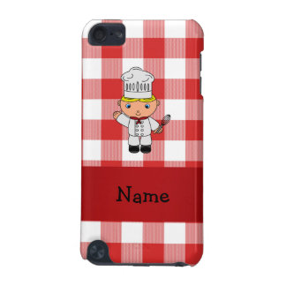 Personalized name chef red white checkers iPod touch 5G case