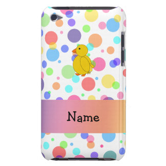 Personalized name chick rainbow polka dots iPod Case-Mate cases