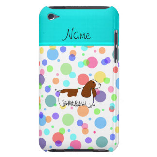 Personalized name cocker spaniel rainbow polka dot iPod touch cover