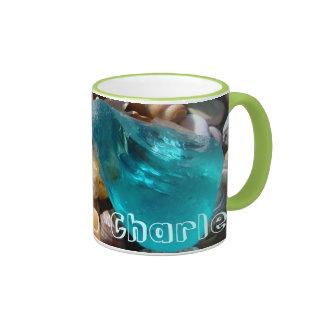 Personalized Name Coffee mugs Coast Seaglass