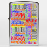 Personalized Name Collage Colorful Custom Zippo Lighter