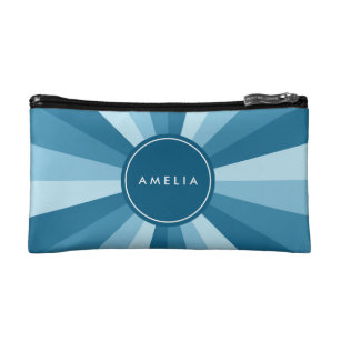 Shades Blue Cosmetic Makeup Bags Zazzle