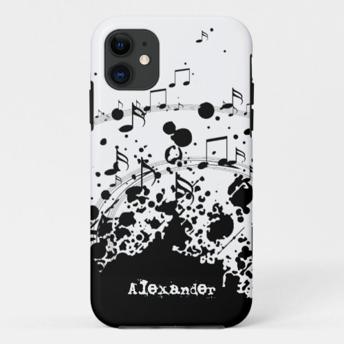 personalized name cool music explosion Phone Case