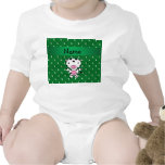 Personalized name cow green soccer balls t-shirts