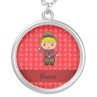 Personalized name cowboy red christmas trees pendants