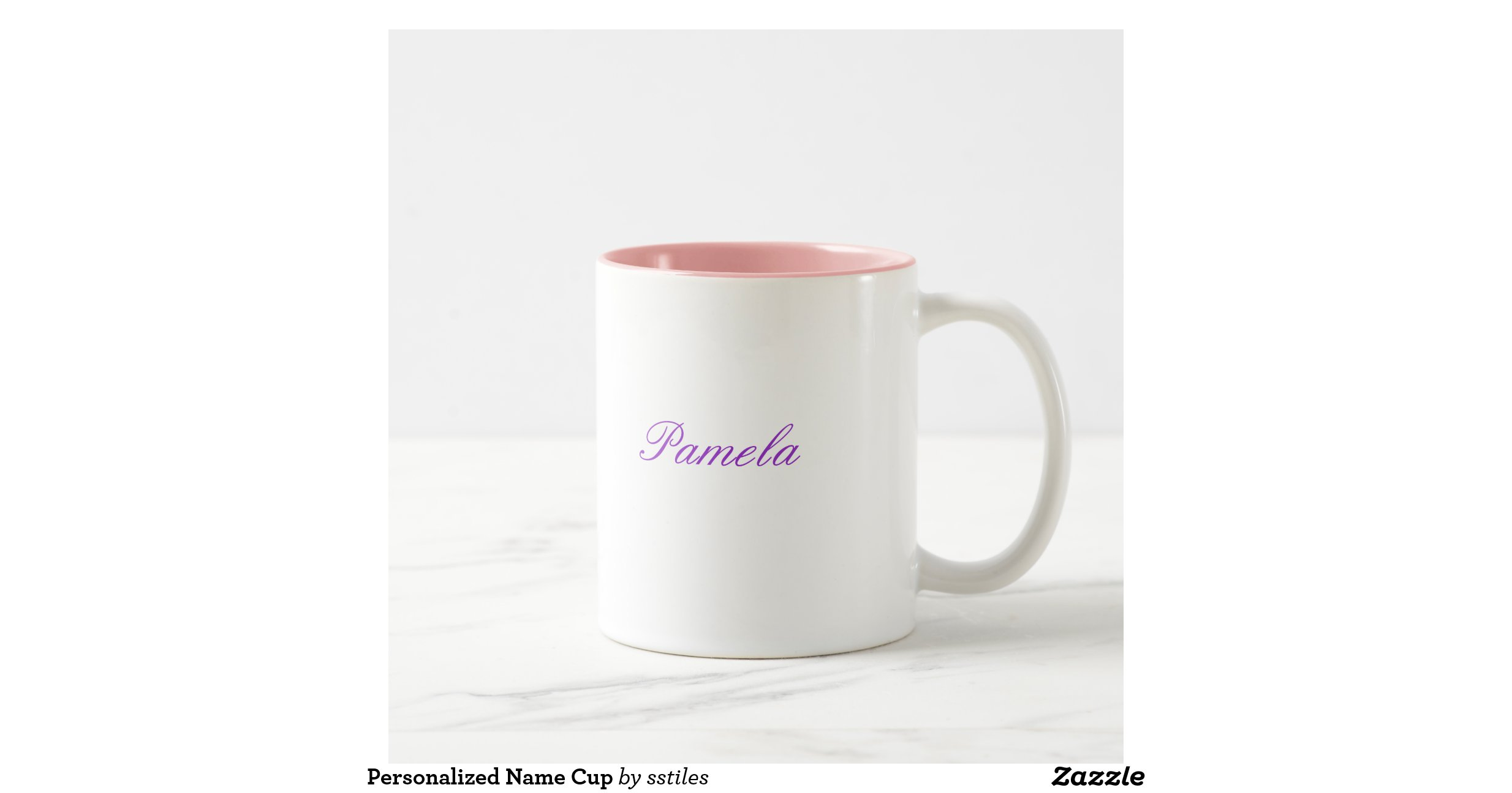 Personalized name cup two tone coffee mug zazzle
