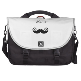 Personalized name Curly mustache Laptop Messenger Bag