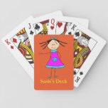 "Personalized Name Custom Text Cute Prize Fun Girl Playing Cards<br><div class=""desc"">Personalized Name Custom Text Cute Prize Fun Girl Playing Cards - This template makes it easy to add your own text or personalized name.  This makes a perfect gift for birthdays,  good grades,  award or first prize,  holidays or any special occasion.</div>"