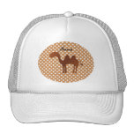 Personalized name cute camel brown polka dots hat