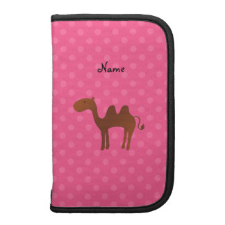 Personalized name cute camel pink polka dots planners