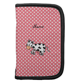 Personalized name cute cow folio planners