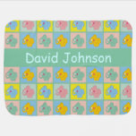 Personalized Name Cute Elephants Baby Blankets