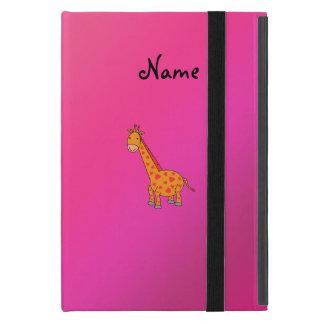 Personalized name cute giraffe cases for iPad mini