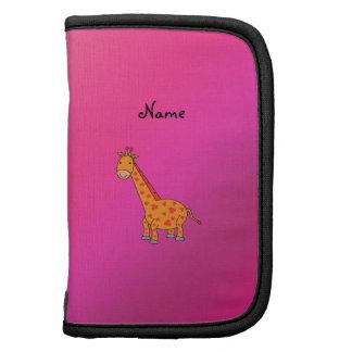Personalized name cute giraffe planners