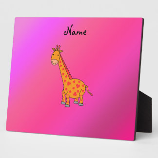 Personalized name cute giraffe display plaques